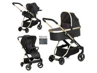 NEW NO BOX HAUCK ACROBAT 3 IN 1 TRAVEL SYSTEM BLACK UNISEX WITH ISOFIX CAR SEAT FROM BIRTH REDUCED
