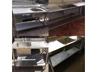 Stainless steel single bowl catering sinks