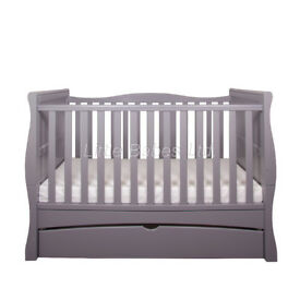 Beautiful Grey 3 in 1 Sleigh Cot Bed/Junior Bed/Sofa Bed in box with mattress