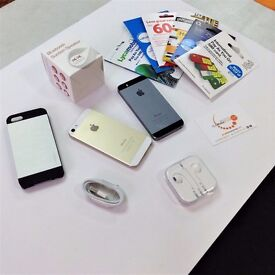 iPhone 5s with Accessories/ Free items (Gold or Black, 16GB, Unlocked, Grade A) - For Sale