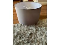 New and boxed Flint Grey Stick Floor Lampshade