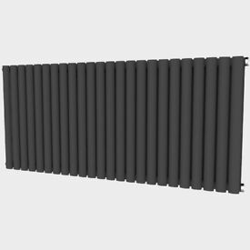 Oval 635mm x 1416mm Double Radiator Horizontal Anthracite