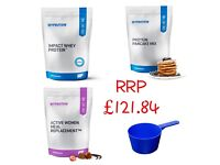 Impact Whey Protein, Protein Pancake Mix, Low Calorie Meal Replacement, FREE Scoops