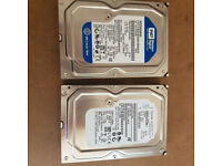 2 x 250gb 3.5 inch hard drives in working order