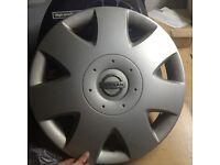 3 x Silver Nissan Wheel Trims