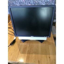 Dell 20 inch colour monitor with sound bar