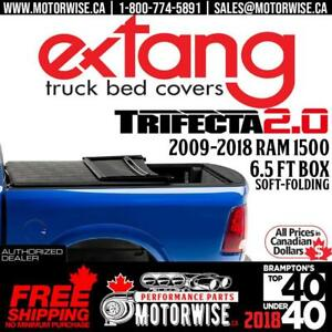 2009-2018 Ram 1500 Extang Trifecta 2.0 Soft Folding Tonneau Cover | 6.5 ft Bed | Free Shipping | www.motorwise.ca