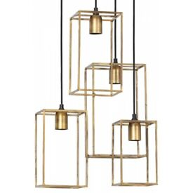 Light and Living Marley 4 Pendant Light - Gold - RRP: £155