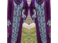 EID SALE - NEW Arabic Kaftan Abaya Farasha Evening/Wedding Butterfly Dress-various colours