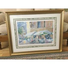 """Gold Framed Water Colour Picture 34"""" x 26 .1/2"""""""