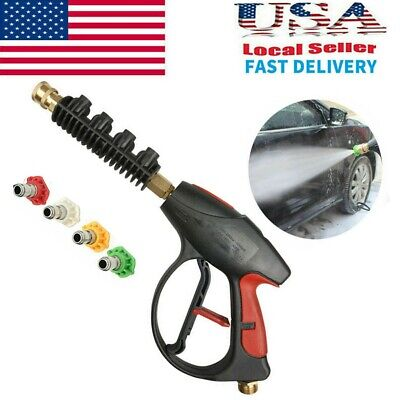 High Pressure Power 4000 PSI Washer Gun Water 4-color Nozzles tips Best (Best Pressure Washer Gun)