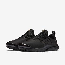 Nike Air Presto Triple Black Trainers 100% Genuine! ALL SIZES
