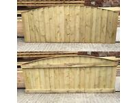 🍁Pressure Treated Heavy Duty Bow Top Feather Edge Wooden Garden Fence Panels