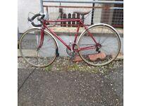 Vintage Raleigh Clubman Racer Bike
