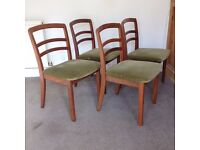 4 x Gorgeous G Plan Ladderback Dining Chairs - Teak - Great Quality & Condition