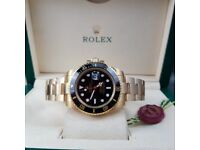 Complete Package gold strap black face ceramic bezel Rolex Submariner automatic sweeping