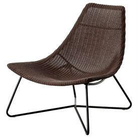 IKEA RADVIKEN Rattan Armchair - Like New/Pristine Condition