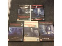 Paranormal activity collection