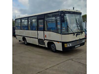 Left hand drive Toyota Coaster BB30L 3.4 diesel 28 seats bus. 3B engine.