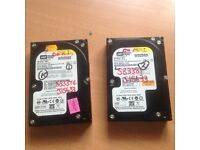 2 sata 250 gb hhd internal hard drives