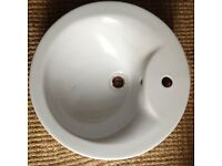 Ceramic Countertop Round Bathroom Sink