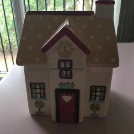 Kirstie Allsopp house cookie jar - pink