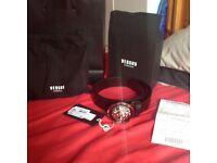 *NEW* Versace lion belt buckle (black) size 95 great condition