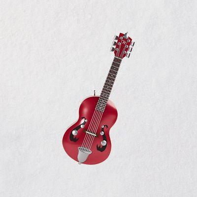 Hallmark 2018 ~ Little Strummer Guitar Mini Musical Ornament - Guitar Ornaments