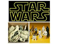 Wanted Vintage Star Wars and 1980's toys cash paid