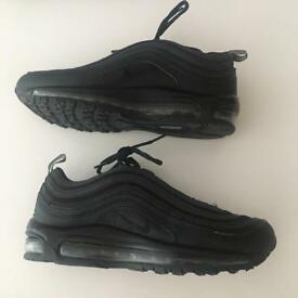 Nike all black air max 97 size 7 cheap free shipping