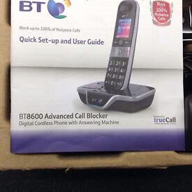 BT 8600 cordless phone and answer machine