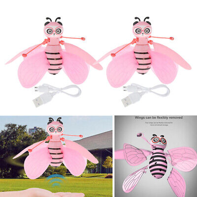 2x Kinder fliegen Ball Biene Spielzeug Infrarot Induktion RC Drohne Hubschrauber