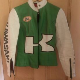 Ladies vintage motorcycle jacket Kawasaki