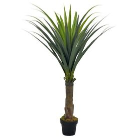 Artificial Plant Yucca Tree with Pot Green 145 cm-280184
