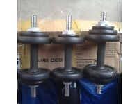 YORK 20KG WEIGHTS AND 4KG WEIGHT BALL