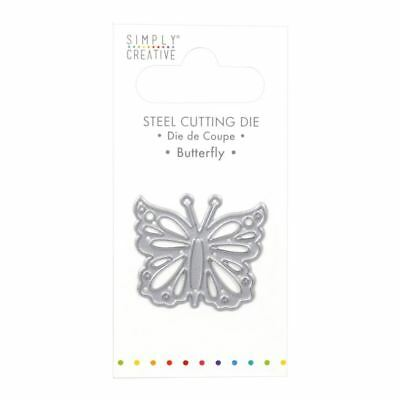 Trimcraft Simply Creative Mini Metal Paper Card Craft Die Set - Butterfly