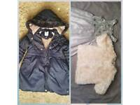 Girls lovely coat and dress size 4-5yr