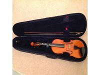 3/4 size violin and case