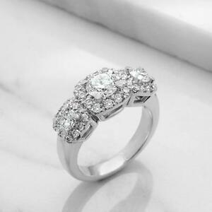 BAGUE DE MARIAGE TRINITÉ DIAMANTS 1.85 CARAT TOTAL/TRINITY ENGAGEMENT RING 1.85 TOTAL DIAMOND CARAT WEIGHT