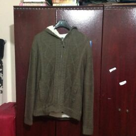 Cheap Grey Cardigan Jacket with hoodie £10