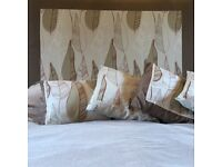 A stunning, bespoke padded headboard for a double bed