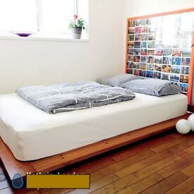 Stylish modern design low double bed - Great condition