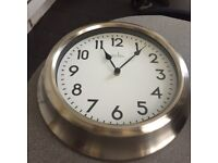 Chrome clock for sale in full working order