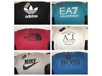 Men's Tshirts - Hugo Boss, Nike, Adidas, North face, EA7, Armani Jeans