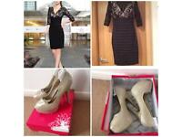 Bnwt Ever~Pretty dress with new pair of heels