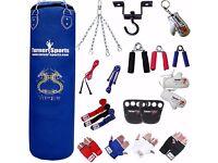 Hot Deal Alert! TurnerMAX Punch Bag Sets (Blue Punch Bag + Accessories) Black Friday Sale Up To 60%