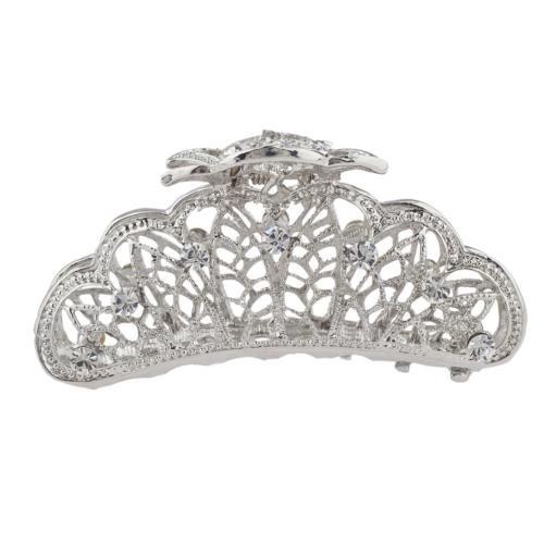 Lux Accessories Silver Tone Faux Rhinestone Special Occasion
