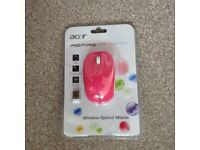 Acer aspire 1 happy pink wireless optical mouse (in original seeled packaging)