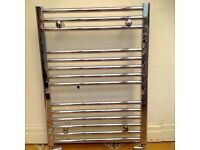 Chrome towel rail/ radiator. Size 850 x 600 mm excellent condition.