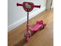 Hello Kitty Push Scooter Pink for Toddlers